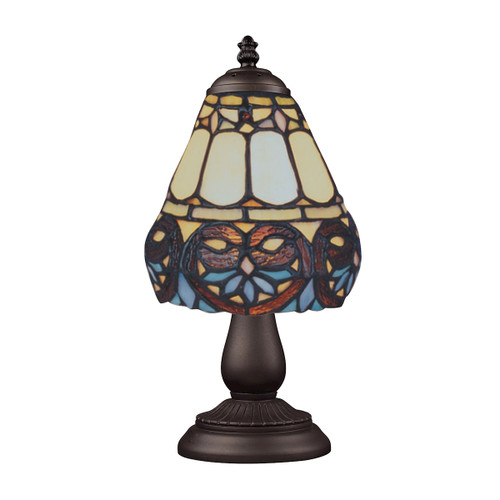 "13"" ELK Lighting Mix-N-Match Table Lamp in Tiffany Bronze, Traditional 10 - 1"