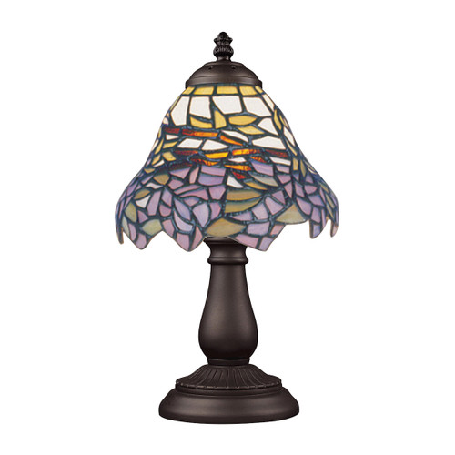 "13"" ELK Lighting Mix-N-Match Table Lamp in Tiffany Bronze, Traditional 11 - 1"