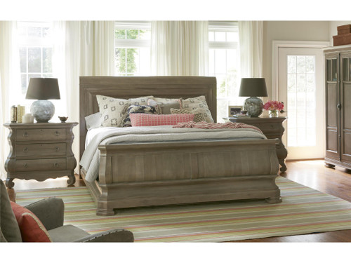 "93"" Universal Furniture Reprise King Sleigh Bed - 1"