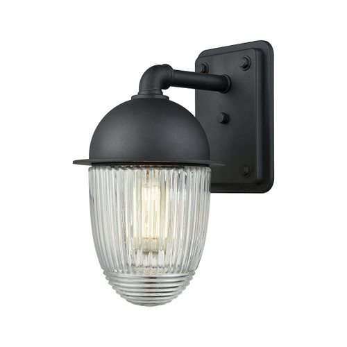 "12"" ELK Lighting Channing 1-Light Outdoor Wall Lamp in Matte Black, Transitional - 1"