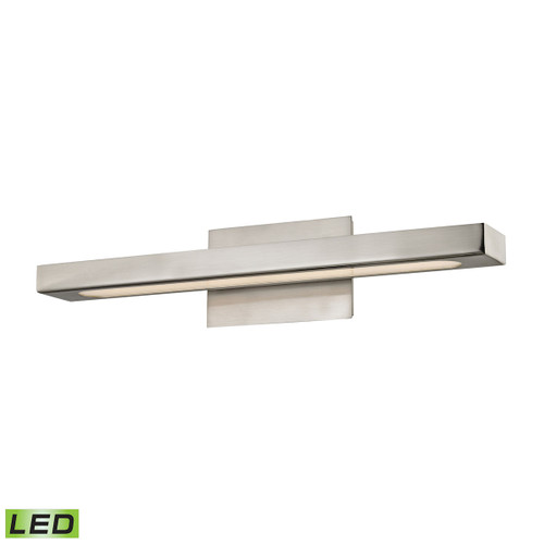 "21"" ELK Lighting Newbury 1-Light Vanity Sconce in Matte Satin Nickel with Opal White Glass Diffuser - Integrated LED, Modern / Contemporary - 1"