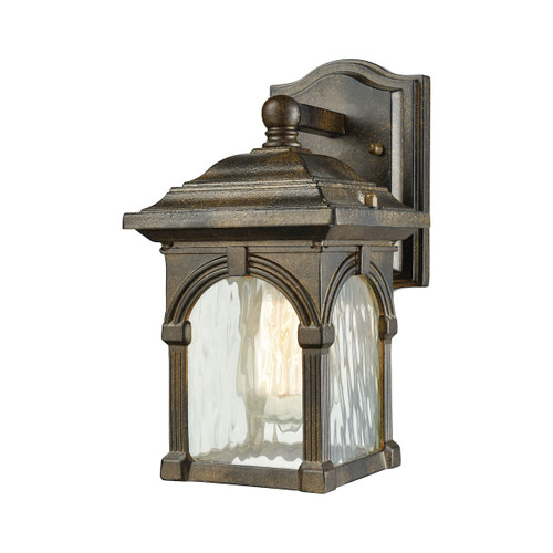 "10"" ELK Lighting Stradelli 1-Light Outdoor Wall Lamp in Hazelnut Bronze, Traditional - 1"