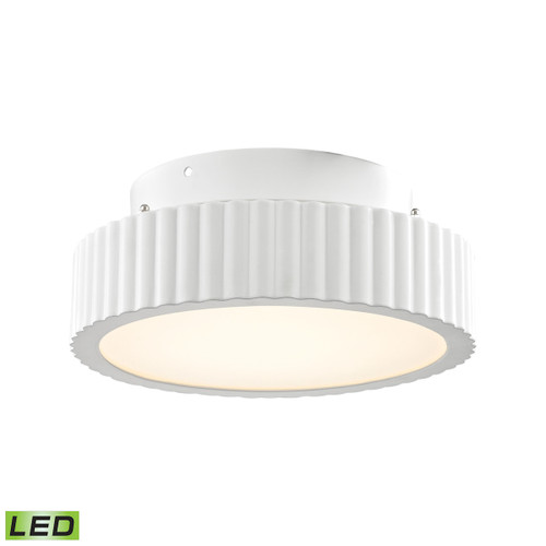 """10"""" ELK Lighting Digby 50-Light Flush Mount in Matte White with Opal White Glass Diffuser - Integrated LED, Modern / Contemporary - 1"""
