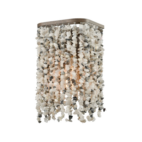 "11"" ELK Lighting Agate Stones 1-Light Vanity Sconce in Weathered Bronze with Agate Stones, Transitional - 1"
