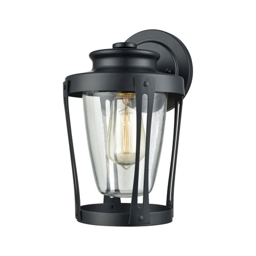 "11"" ELK Lighting Fullerton 1-Light Outdoor Wall Lamp in Matte Black, Transitional - 1"