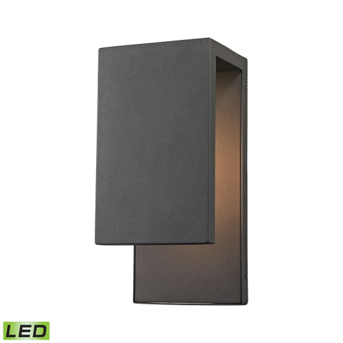 "11"" ELK Lighting Pierre 1-Light Outdoor Sconce in Textured Matte Black - Integrated LED, Modern / Contemporary - 1"