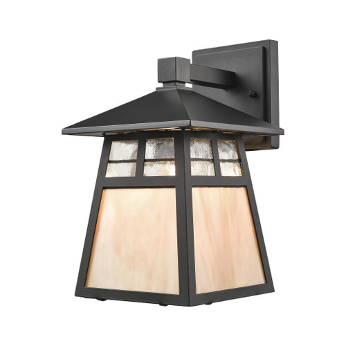 "11"" ELK Lighting Cottage 1-Light Outdoor Wall Lamp in Matte Black, Traditional - 1"