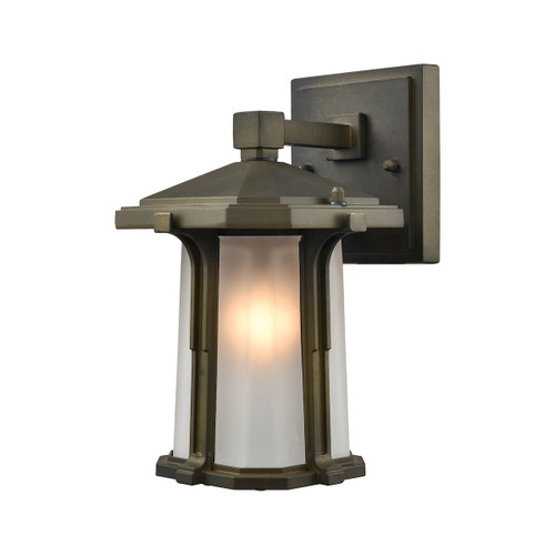 "10"" ELK Lighting Brighton 1-Light Outdoor Wall Lamp in Smoked Bronze, Traditional - 1"