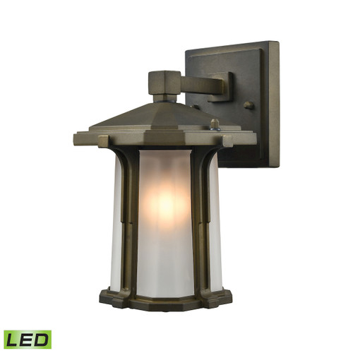 "10"" ELK Lighting Brighton 1-Light Outdoor Wall Lamp in Smoked Bronze - Includes LED Bulb, Traditional - 1"