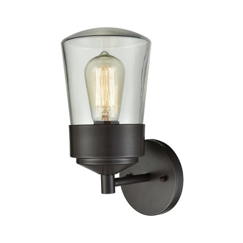 """11"""" ELK Lighting Mullen Gate 1-Light Outdoor Wall Lamp in Oil Rubbed Bronze - Small, Transitional - 1"""