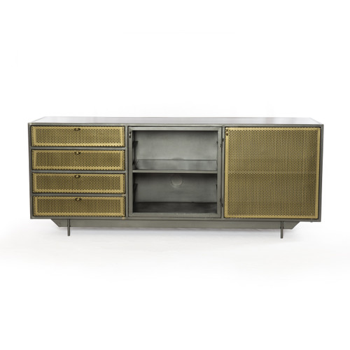 """25"""" Four Hands Hendrick Small Media Console Cabinet - 1"""