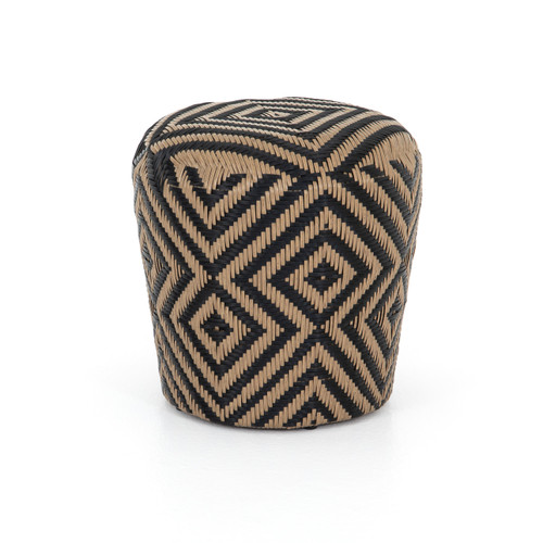 """17"""" Four Hands Lucia Woven Outdoor Stool - Natural Woven - 1"""