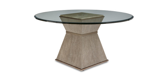 """ART Furniture Cityscapes - 33"""" Hancock Round Dining Table BASE, Paint - Gray -1"""