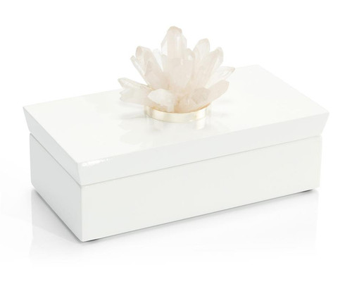 "10"" John Richard Long White Box with Quartz - 1"