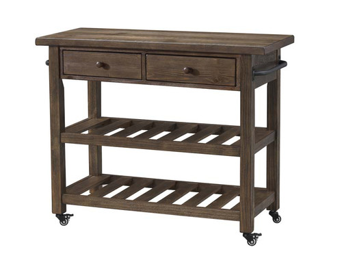 Orchard Park Two Drawer Kitchen Cart