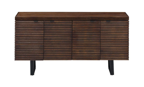"34"" Coast to Coast Accents 4 Door Credenza Cabinet - 1"