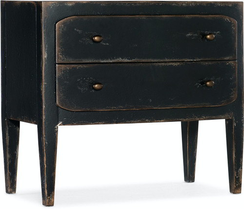 CiaoBella Two-Drawer Nightstand - Black