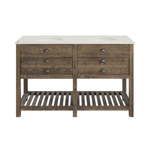 """35"""" Coast to Coast Accents 2 Drawer Double Sink Vanity Chest - 1"""