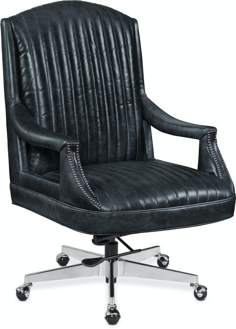 "40"" Hooker Furniture Home Office Claybrook Executive Swivel Tilt Chair with Metal Base - 1"