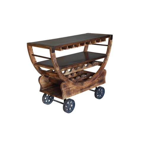 "36"" Coast to Coast Accents Trolley Bar Table - 1"