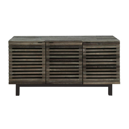 "32"" Coast to Coast Accents 3 Door Media Credenza Cabinet - 1"