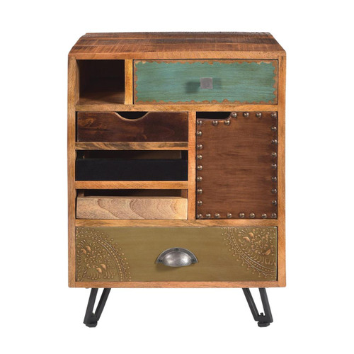 """27"""" Coast to Coast Accents 5 Drawer 1 Door End Table - 1"""
