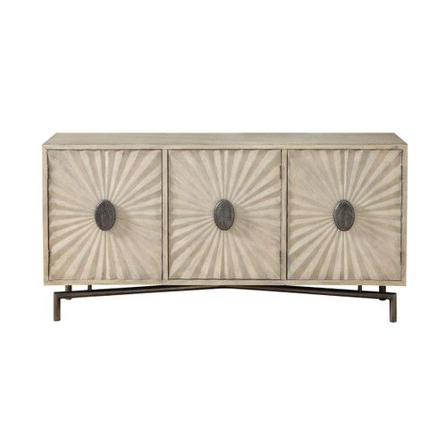 "34"" Coast to Coast Accents 3 Door Media Credenza Cabinet - 1"