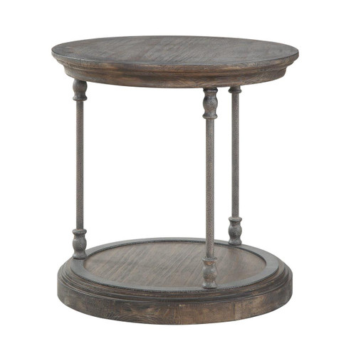 "24"" Coast to Coast Accents Round End Table - 1"