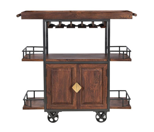 """48"""" Coast to Coast Accents Wine Trolley Cabinet - 1"""
