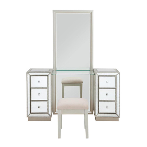 "72"" Coast to Coast Accents Vanity Mirror and Stool - 1"