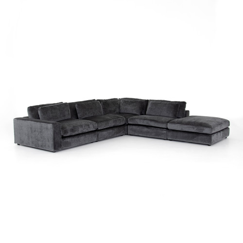 4-Piece Four Hands Bloor Sectional with Ottoman 3 - 1