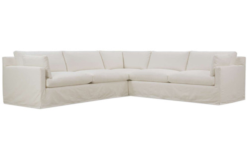 Sylvie Slip Covered Sectional - Right Seated Chaise