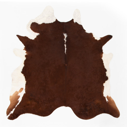 Brown And White Cowhide Rug