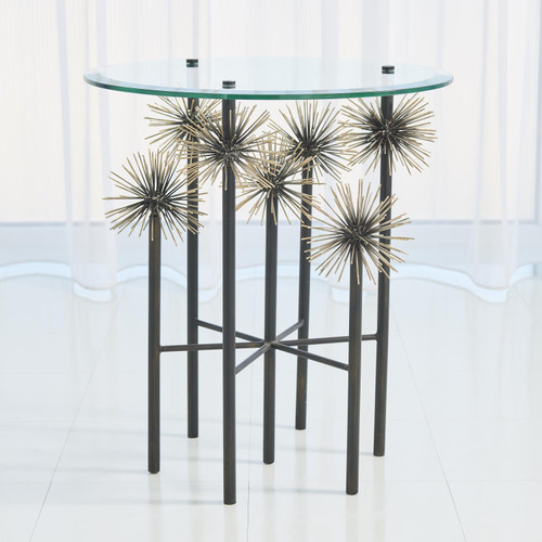 Boom End Table - Brass