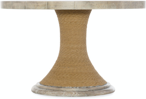 """30"""" Hooker Furniture Amani Round Pedestal Dining Table with Wood Top - 1"""