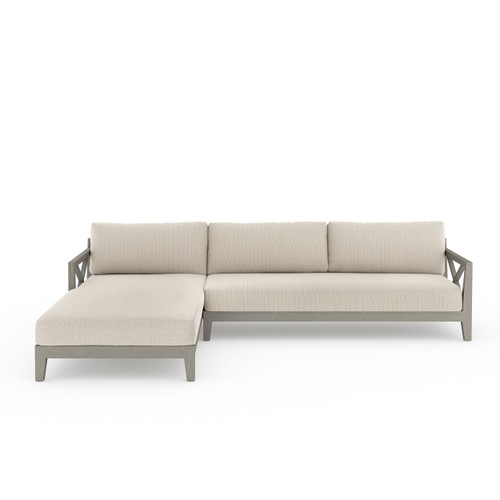 2-Piece Four Hands Huntington Outdoor Sectional - Weathered Grey 1 - 1