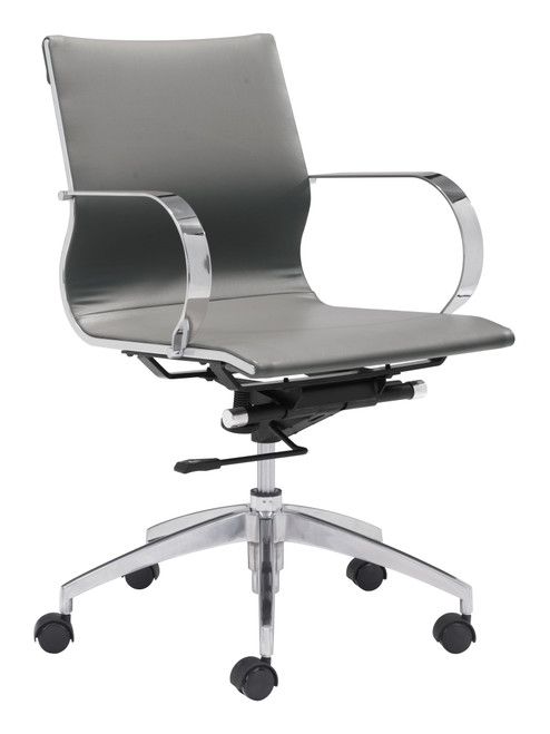 Glider Low Back Office Chair - Gray