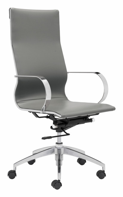 Glider High Back Office Chair - Gray