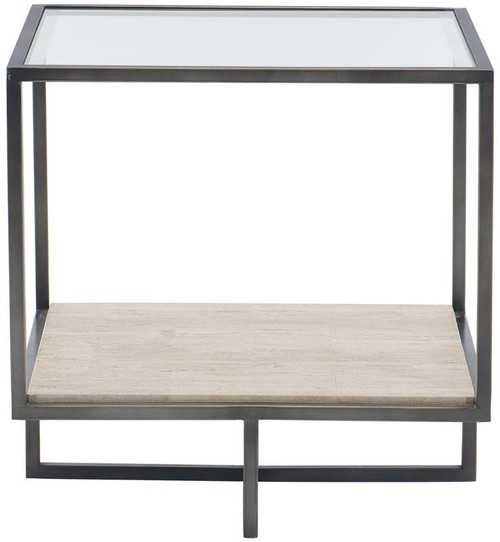 "Bernhardt 24"" Freestanding Occasional Harlow Metal Square End Table - 1"