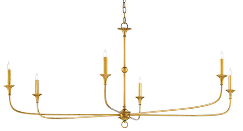 "61"" Currey and Company Nottaway Gold Large Chandelier - 1"