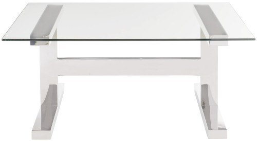 "Bernhardt 40"" Freestanding Occasional Aria Square Cocktail Table Glass Top -1"
