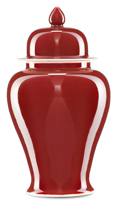 """14"""" Currey and Company Oxblood Small Ginger Jar - 1"""