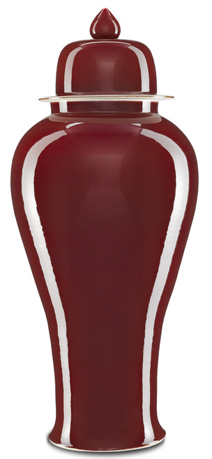 """39"""" Currey and Company Oxblood Large Ginger Jar - 1"""