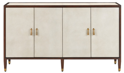 "60"" Currey and Company Evie Shagreen Credenza - 1"