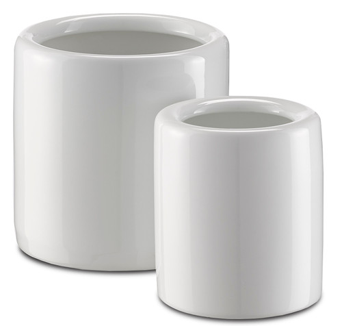 """5"""" Currey and Company Imperial White Jar Set - 1"""