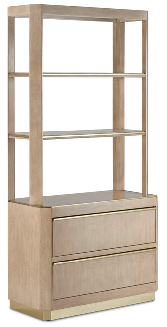 "74"" Currey and Company Bali Storage Etagere - 1"