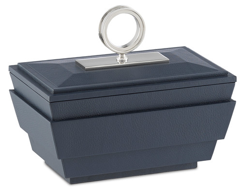 "10"" Currey and Company Brash Navy Small Box - 1"