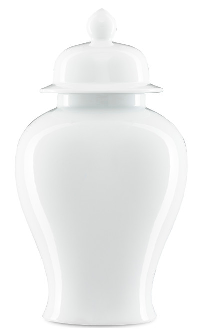 """18"""" Currey and Company Imperial White Medium Ginger Jar - 1"""