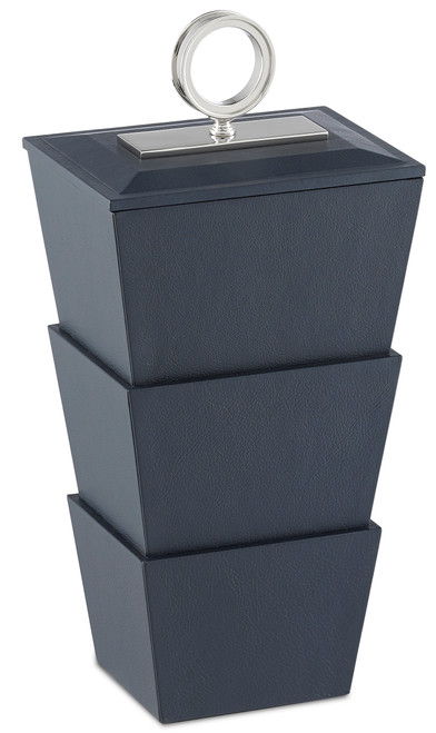 "17"" Currey and Company Brash Navy Medium Box - 1"