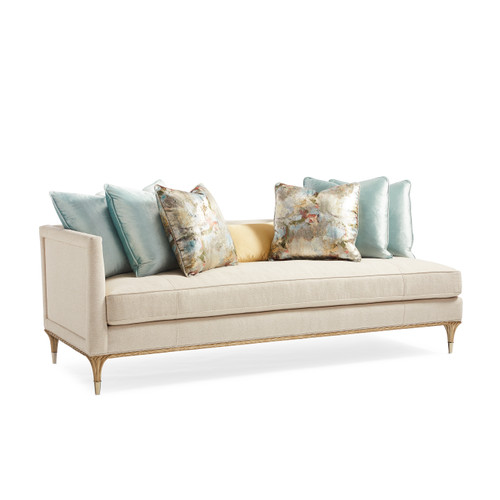 "Caracole 88"" Fontainebleau - Laf Loveseat, Gold Brush-1"